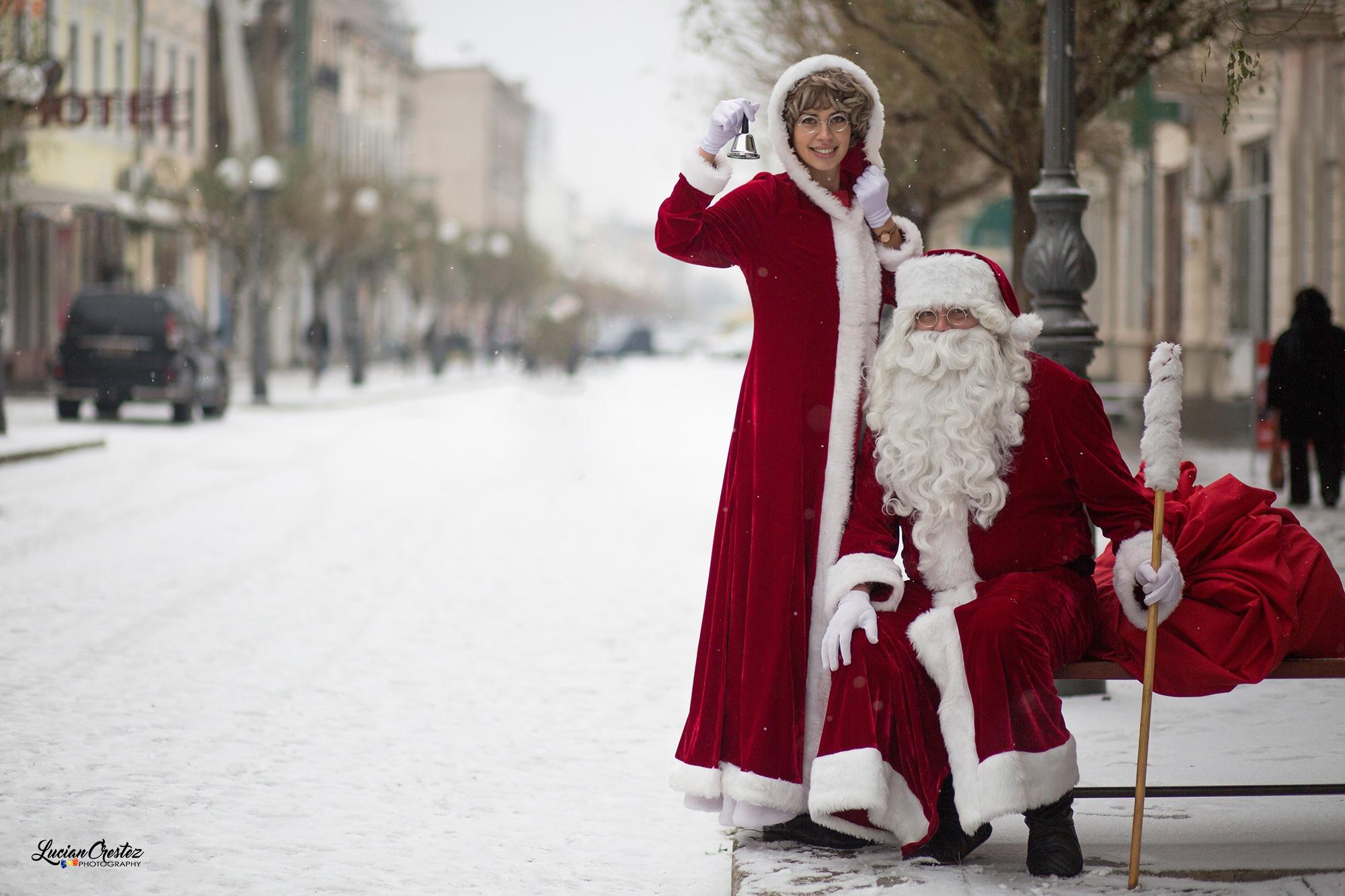 Sedință foto cu Moș Crăciun în cinci minute